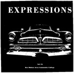 Expressions 1986 by Mark Manning, Lola Peters, Mio M. Mendenhall, Paul Miller, Scott Fabritz, Loren Chantland, Bev Cranmer, Tom Devries, Richard Hawkins, Dody Ray, Mark Becker, Melody Banks, Pat Underwood, Jill Egnew, Suzanne Peterson, Jane Carsrud, Jody Maxfield, Debra Peckumn, Judie Carter, Susan Staber, Ron S. Porter, Jolene Wagoner, Kathy Tyler, Alan Newman, Bill Chaney, Craig Gimple, and Teresa M. Little